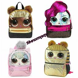 LOL Surprise School Bookbag Mini Backpack Purple Pink Gold Q
