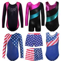 Shiny Gymnastics Leotards Athletic Ballet Dance Unitard For