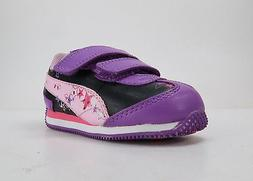 Puma Shoes Speeder Black/Purple Little Girls Light-Up Sneake