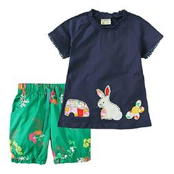 Little Bitty Little Girl Short Set Summer Cotton Clothing Se
