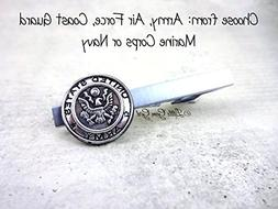 Silver Military Tie Clip 5 Styles Available Army Air Force C