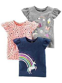 Simple Joys by Carter's Baby Girls' Toddler 3-Pack Graphic T