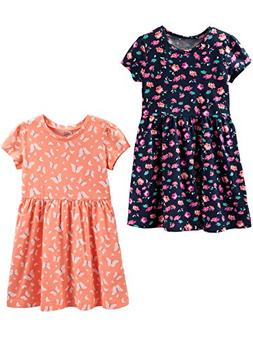 Simple Joys by Carter's Girls' Toddler 2-Pack Short-Sleeve a