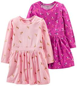 Simple Joys by Carter's Girls' Toddler 2-Pack Long-Sleeve Dr