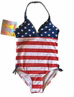 St. Tropez Kids Size 4 Little Girls Patriotic Swimsuit Fourt