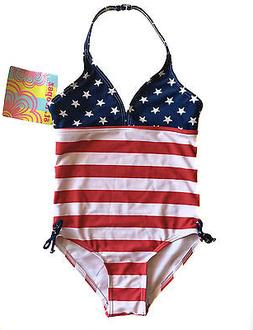 St. Tropez Kids Size 5 Little Girls Patriotic Swimsuit Fourt