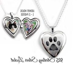 Sterling Silver Pet Locket personalized with your Photos - P
