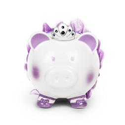 Swarovski with Crown Princess Porcelain Piggy Bank for Kids