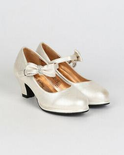 Little Angel Tasha-685E New Girl Leatherette Bow Platform Mary Jane Pump Size
