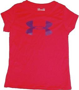 GIRLS UNDER ARMOUR TEE SHIRT SPORTS ATHLETIC KIDS ACTIVE CHI