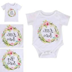 TH_ Baby Kids Girl Little Big Sister Matching Clothes Romper
