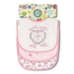 Little Me Thank Heaven for Little Girls Baby Bibs  Set of 3