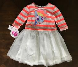 Toddler Girls My Little Pony MLP Rainbow Dash Tutu Dress Siz