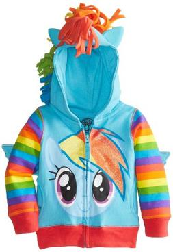 Freeze Toddler Girls' My Little Pony Rainbow Dash Hoodie, Bl