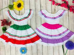 Unik Traditional Mexican Dress for Little Girls Size 2-14 Ci