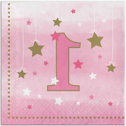 Twinkle Twinkle Little Star Girl 1st Birthday Party Supplies