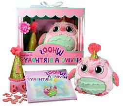 Whooo's Having a Birthday Gift Set for Girls- Book, Owl, a