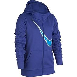Nike Youth Girls' Therma Training Full-Zip Hoodie Purple Com
